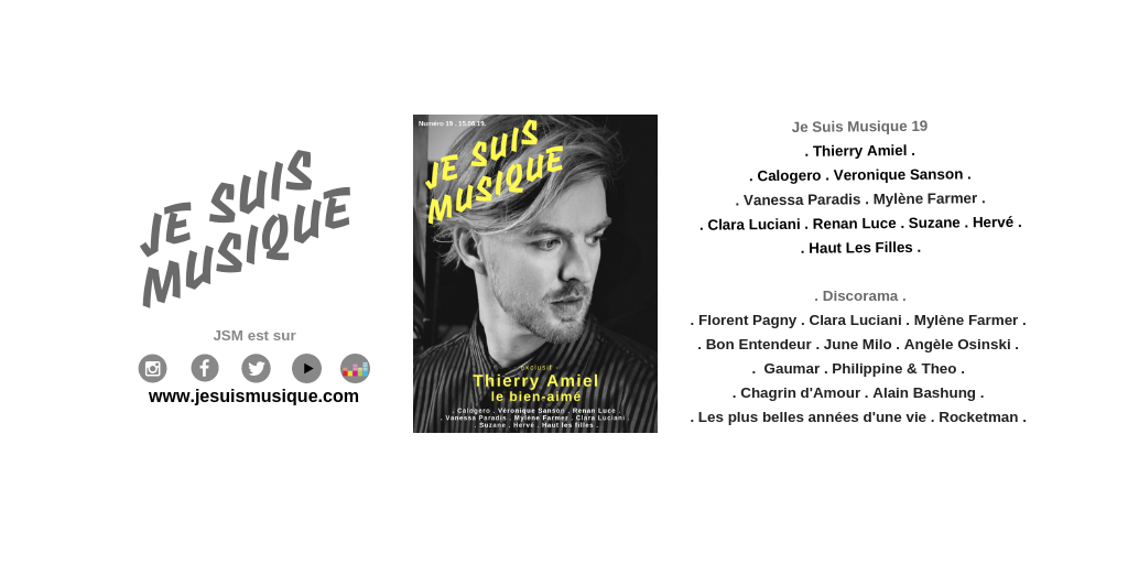 JE SUIS MUSIQUE 19 : Interview et photos exclusives : THIERRY AMIEL par Gregory Guyot